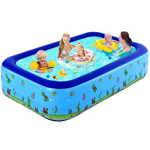 AFF Aufblasbarer Kinderpool Kinderheim-Planschbecken Großer aufblasbarer ovaler Pool für Babys,210 * 150 * 72