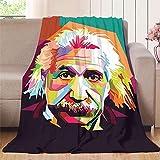 Elliot Dorothy Albert Einstein en colores manta de viaje suave reversible aterciopelada ultra felpa, microfibra, colorido, 70'x90'(W178cmxL228cm)