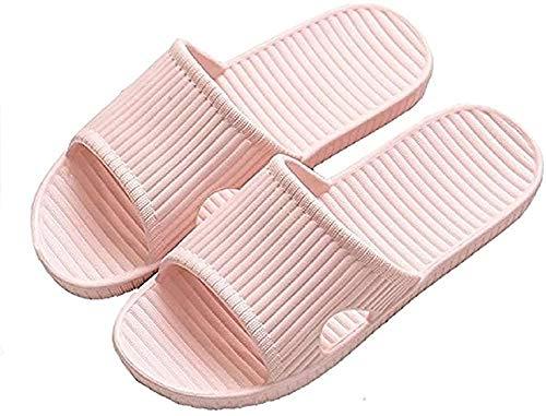 APIKA Zapatillas Antideslizantes para Mujeres Y Hombres Uso En Interiores Uso Al Aire Libre Baño Sandalia Suela De Espuma Suave Zapatos De Piscina Casa Hogar Slide(Rosado,36/37 EU)