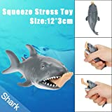 Squishy Jouet Cartoon Carcharias Shark Solike Anti Stress Amusement Toy Soft Toy Slow Rising Jouets...
