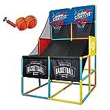 YQZ Juego de aro de Baloncesto de Doble Arcade, Juego de Mesa de Arcade de Baloncesto para niños, Sistema de Entrenamiento de Tiro de aro de Baloncesto para Interiores