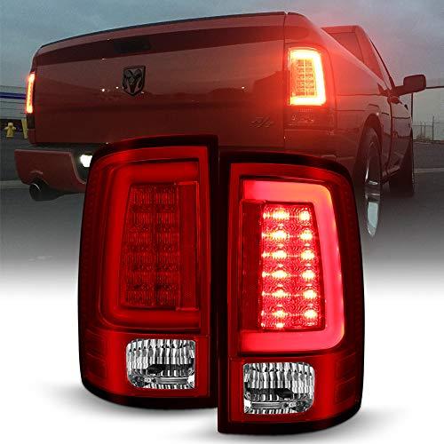 ACANII - For 2009-2018 Dodge Ram 1500 10-18 Ram 2500 3500 Truck Red LED Tube Tail Lights Brake Lamps V2 Left+Right