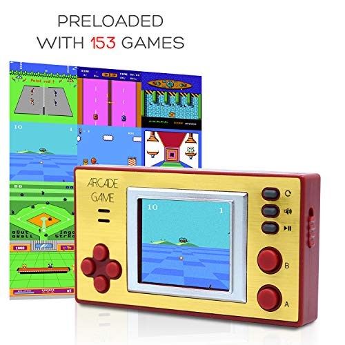 Funderdome Retro Mini Arcade Game Portable Gaming Console for Kids with 153 Classic Video Games