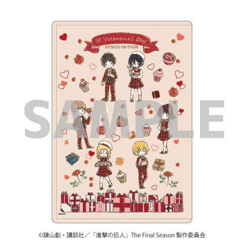 キャラクリアケース「進撃の巨人」02/バレンタインver. ちりばめデザイン(グラフアート)