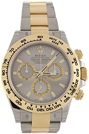 ROLEX Cosmograph Daytona 40 Grey Dial Stainless Steel Oyster Men's Watch 116523