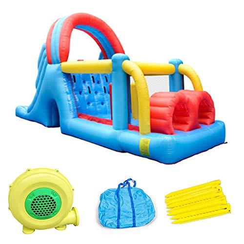 NoNo Trampolín Inflable Grande, Equipo De Juegos Infantiles, Trampolín Grande, Parque De Castillo Inflable, Gran Tobogán, 710X255x305cm