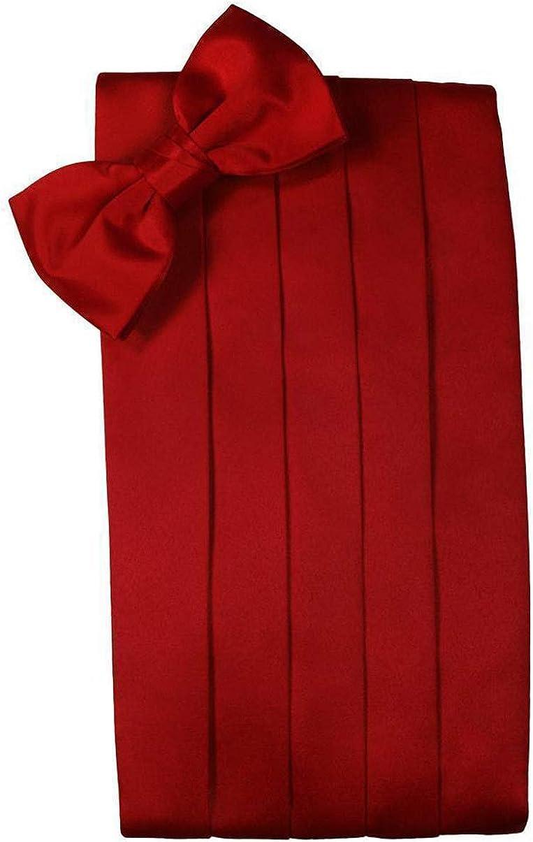Silk Self Bow Tie and Cummerbund Set