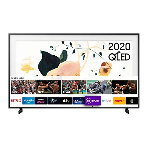 "Samsung 2020 32"" The Frame Art Mode QLED Full HD HDR Smart TV, CHARCOAL BLACK, LS03T"