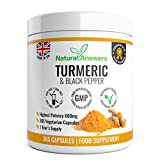 Turmeric Capsules 1 Year Supply High Strength Turmeric Capsules with Black Pepper Turmeric Tablets 365 Vegetarian Capsules Turmeric Curcumin One A Day Turmeric Supplement Curcumin