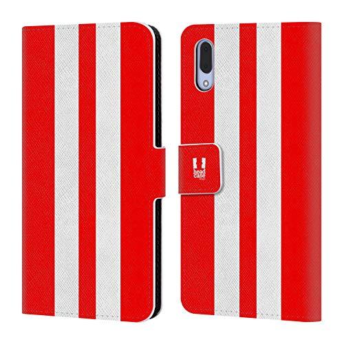 Head Case Designs Roter Rennenwagen Transportmittel Farbig Leder Brieftaschen Handyhülle Hülle Huelle kompatibel mit Sony Xperia L3