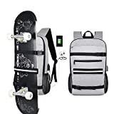Simbow Sport Bag Laptop Skateboard Backpack Water Resistant 15.6 Inch (Skateboard Grey)