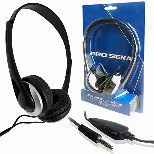 Auf dem Ohr Leichtgewicht Kopfhörer mit Lautstärkeregler & 6m Kabel für PCs, Laptop, Tablet, TV, iPod / iCHOOSE