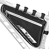 HONGYEA Fahrradtasche Rahmentasche, Dreieckstasche Triangle Tasche Fahrrad, Praktisch Fahrradtaschen Rahmen Fahrrad Zubehör Mountainbike MTB Rennrad für Handys, Fahrradschloss, Werkzeug