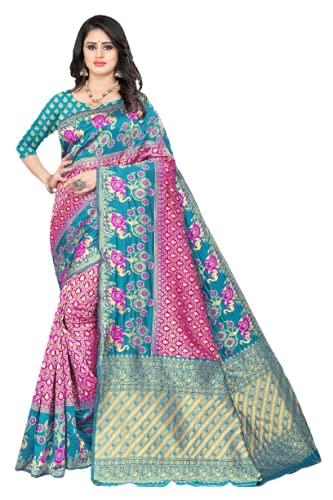 BY ECO RAMZAT Fashion Women New Kanjivaram Soft Lichi Silk Pure Jacquard designer Saree With Unstitched Blouse Piece enhancing the beauty of a women.