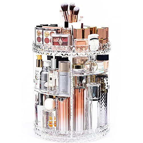 DreamGenius Makeup Organizer, 360 Degree Rotating Cosmetic Storage Organizer, 7-Layer Adjustable...