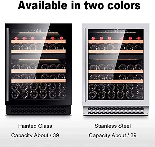 5-20 °;C bodega de temperatura constante, 39 Botella de vino termoeléctrico de Refrigeración / Chiller Mostrador Rojo Blanco Bodega w Temperatura / digital, Zona puerta de vidrio Operación Nevera lili