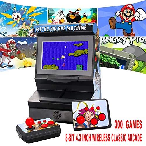 rosemaryrose Mini-Arcade Handheld Game, Nueva FC Portátil Máquina De Juego Portátil 8 bits Inalámbrico De Pantalla Grande Auricular Neutral