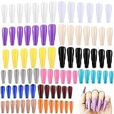 GiantGo 336 unghie finte a forma di ballerina extra lunghe, tinta unita, unghie finte in acrilico, per fai da te, salone di arte per donne e ragazze, 14 colori