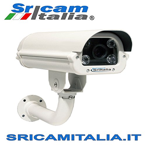 Sricam Italia ObaSecurity IP-cameragebehuizing voor LPR, 2 megapixel Sony, Varifocale lens 6-22 mm, IP66, LCD beeldbewerkingsoftware voor microSD-geheugenkaart