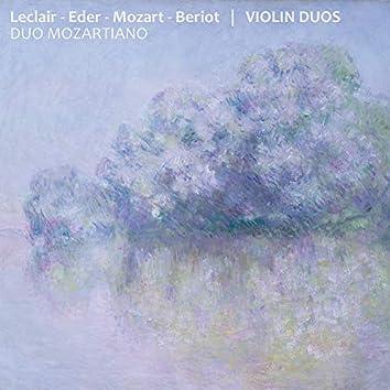 Leclair - Eder - Mozart - Beriot: Violin Duos (Duo Mozartiano)