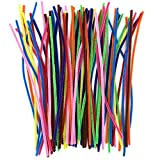 Anvin Pipe Cleaners 100 Pcs 10 Colors Chenille Stems for DIY Crafts Decorations Creative School Projects (6 mm...