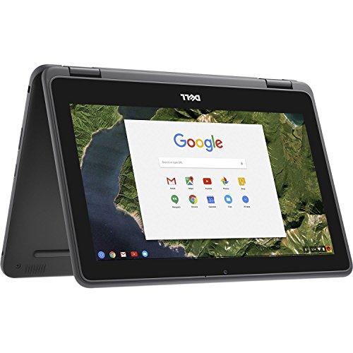 Dell - 2-in-1 11.6' Touch-Screen Chromebook - Intel Celeron - 4GB Memory - 32GB eMMC Flash Memory - Gray