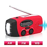 Solar Hand Crank Emergency Weather Radio ,NOAA / AM / FM Portable Radio with 3...