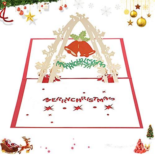 Weihnachten Karten,3D Pop Up weihnachtskarten, Klappkarten Grußkartenfür Frohe Weihnachten,Weihnachten Karten personalisiert,Klappkarten,Grußkarten,Handmade Weihnachtsgrußkarte-Frohe Weihnachten(F)