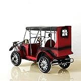 Jump Retro Vintage Artigianato In Metallo Tin Classic Modello Di Auto Desktop Iron Ornaments Creative Home Decor,Red