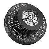 レコード重量スタビライザーダストカバーCDプレーヤーレコードクランプビニールレコードスタビライザービニールディスクLPレコードプレーヤーOfficefor Home(black, Polar Animals)