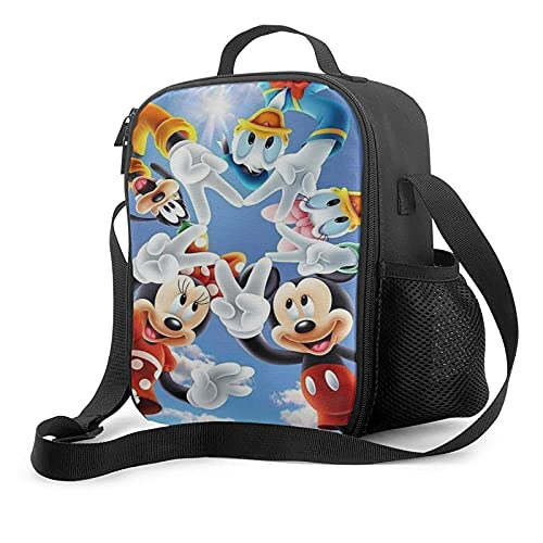 Mickey_Mouse - Bolsa de almuerzo aislada para el trabajo escolar, picnic, bolsa térmica para almuerzo, organizador para niños, niñas, niños y mujeres