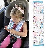 HECKBO® Protezione per Cintura di Sicurezza, Spallina Imbottita, Cuscino per Auto, Imbottitura per Cintura di Sicurezza, Copricintura per Bambine con Unicorni, per Seggiolini su Auto e Bici | 1 Pezzo