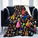 xiaoxiaoshen Super Ma-ri-O Blanket Cartoon Soft Flannel Blanket Oversized Sofa Bed Or Living Room Bedroom 40x50 Inches