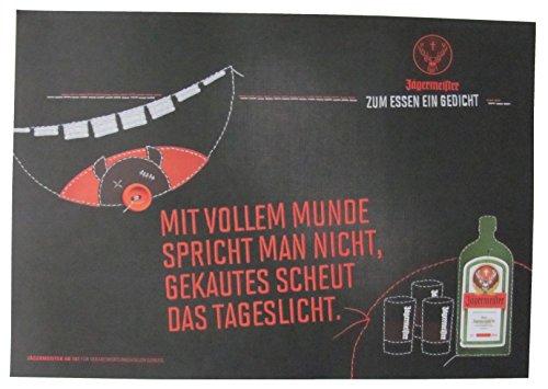 Jägermeister - Platzdeckchen aus Papier 38,5 x 26,8 cm - Mit vollem Munde spricht Man Nicht, gekauftes scheut das Tageslicht