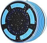 Cestbon Bluetooth Dusch Lautsprecher, Wasserdichter Boxen Duschlautsprecher Mit FM Radio Tragbarer Wireless Duschradio Badradio Mit Freisprecheinrichtung, Super Bass Und HD Sound,Blau