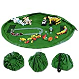 Dooppa Kinderspielzeug-Organizer Aufbewahrungstasche & Spielmatte