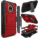 Motorola Moto E4 Case, Moto E 4th Generation Case, Zenic Full-Body Heavy Duty Shockproof Protective Hybrid Case Cover with Swivel Belt Clip and Kickstand for Moto E4 / G5 (Red)