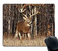 ゲーミングマウスパッドカスタム、鹿の草の森の狩猟カスタマイズされた長方形ノンスリップゴムマウスパッドゲーミングマウスパッド