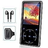 MP3プレーヤー Buletooth 5.0 音楽プレーヤー 超軽量 超 2.4インチ 3D曲面 ポータブルオーディオプレーヤー FMラジオタッチスクリーン スピーカー内臓 32GB内蔵 128GBまで拡張可能 日本語説明書付き (32GB)