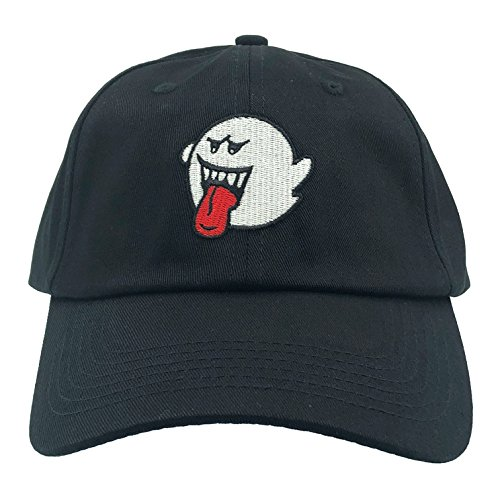 Ghost Hat Dad Hat Baseball Cap Embroidered Adjustable