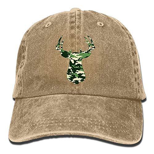 Hoswee Unisex Kappe/Baseballkappe, Camouflage Graphic Elk Denim Hat Adjustable Female Casual Baseball Cap