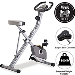 [MEN'S HEALTH EDITOR'S CHOICE]: Supports up to 300 lbs. weight capacity which is 75 lbs. more capacity than most other folding bikes. Very easy to get off and on the bike, providing a more effective and comfortable workout. [Large LCD Display]: An ea...
