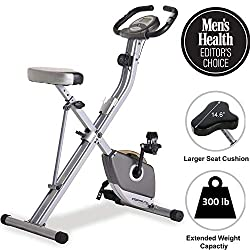 EXERPEUTIC Folding exercise bike with magnetic brake system & hand pulse measurement