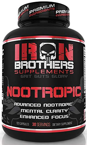 Nootropics Brain Booster - Focus Supplement Pills , Helps Relief Neuro Stress - Improve Memory - Boost Focus and Restore Energy, L-Theanine and Caffeine with Lion's Mane & CDP - Choline - 120 Capsules