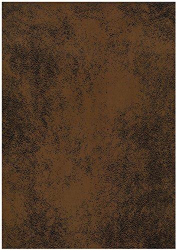 tissu microfibres aspect vieux cuir (FAUVE)