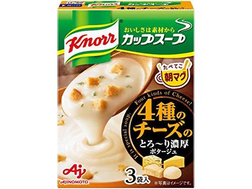 クノール カップスープ 4種のチーズのとろ~り濃厚ポタージュ 3袋×4箱