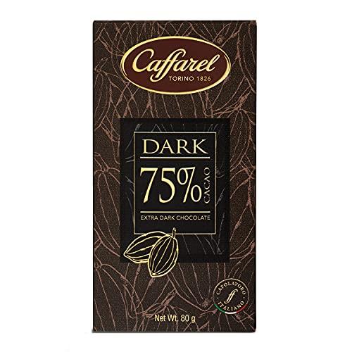 Caffarel Dark Tavoletta Cioccolato Extra Fondente 75%, 80g