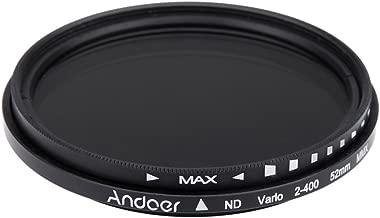 Andoer   52mm Fader Neutral Density Adjustable ND2 ND400 Variable Filter for Canon Nikon DSLR Camera