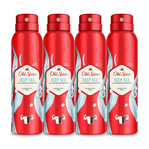 PACK X4 Old Spice Deep Sea Spray Corporal Desodorante Para Hombres 150 ml