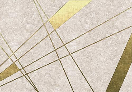 wandmotiv24 Fototapete Abstrakt Gold Linien, XXL 400 x 280 cm - 8 Teile, Fototapeten, Wandbild, Motivtapeten, Vlies-Tapeten, Modern, Textur, Flächen M1134